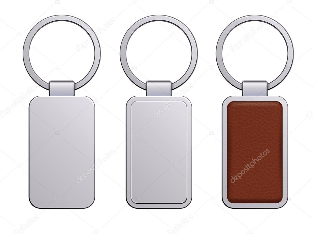 realistic keychain pendant template stock vector rea molko
