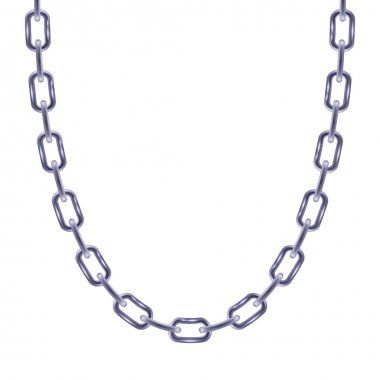 Thin chain silver metallic necklace or bracelet.
