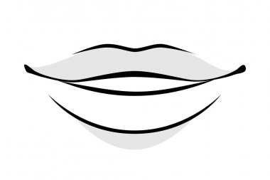 Human lips simple style vector illustration.