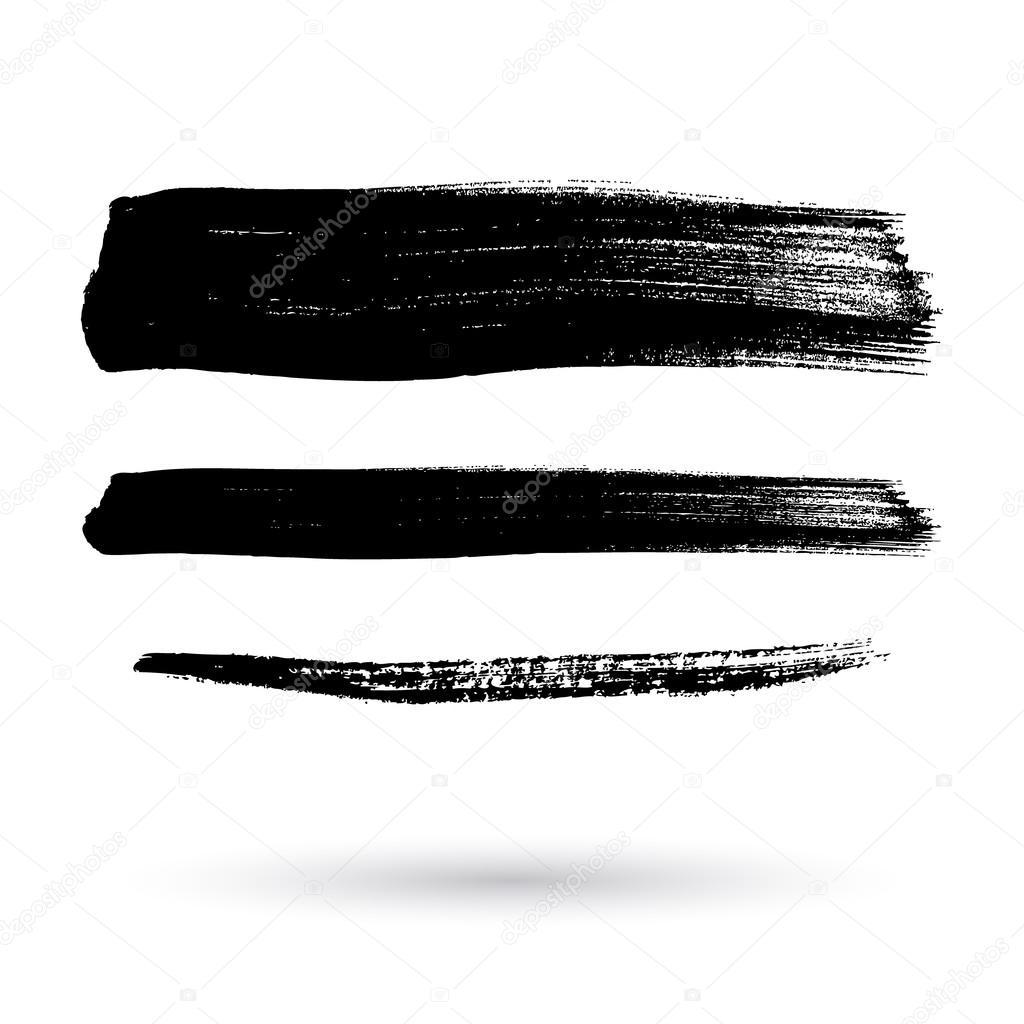 Pinsel-Striche-Set abstrakt Vektor-illustration — Stockvektor ...