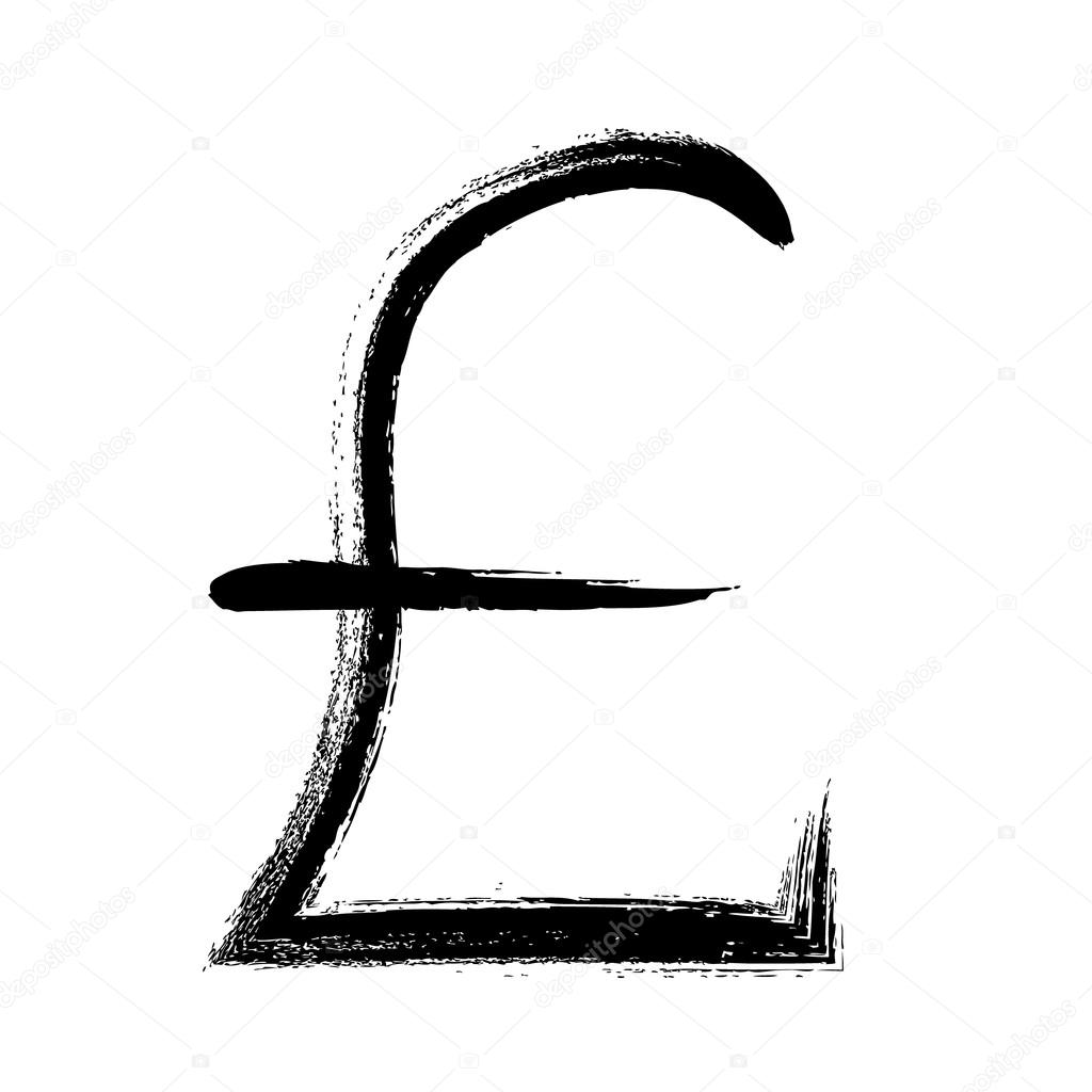 Currency symbol hand drawn gbp pound sign stock vector currency symbol hand drawn vector illustration gbp pound sign vector by reamolko buycottarizona Choice Image