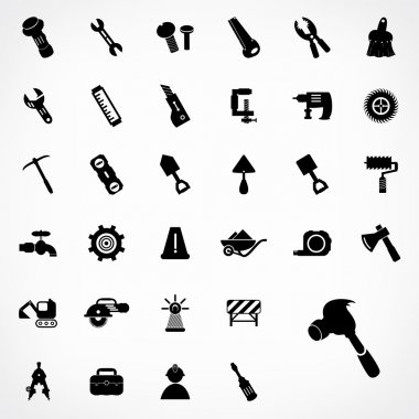 Set of construction icons design