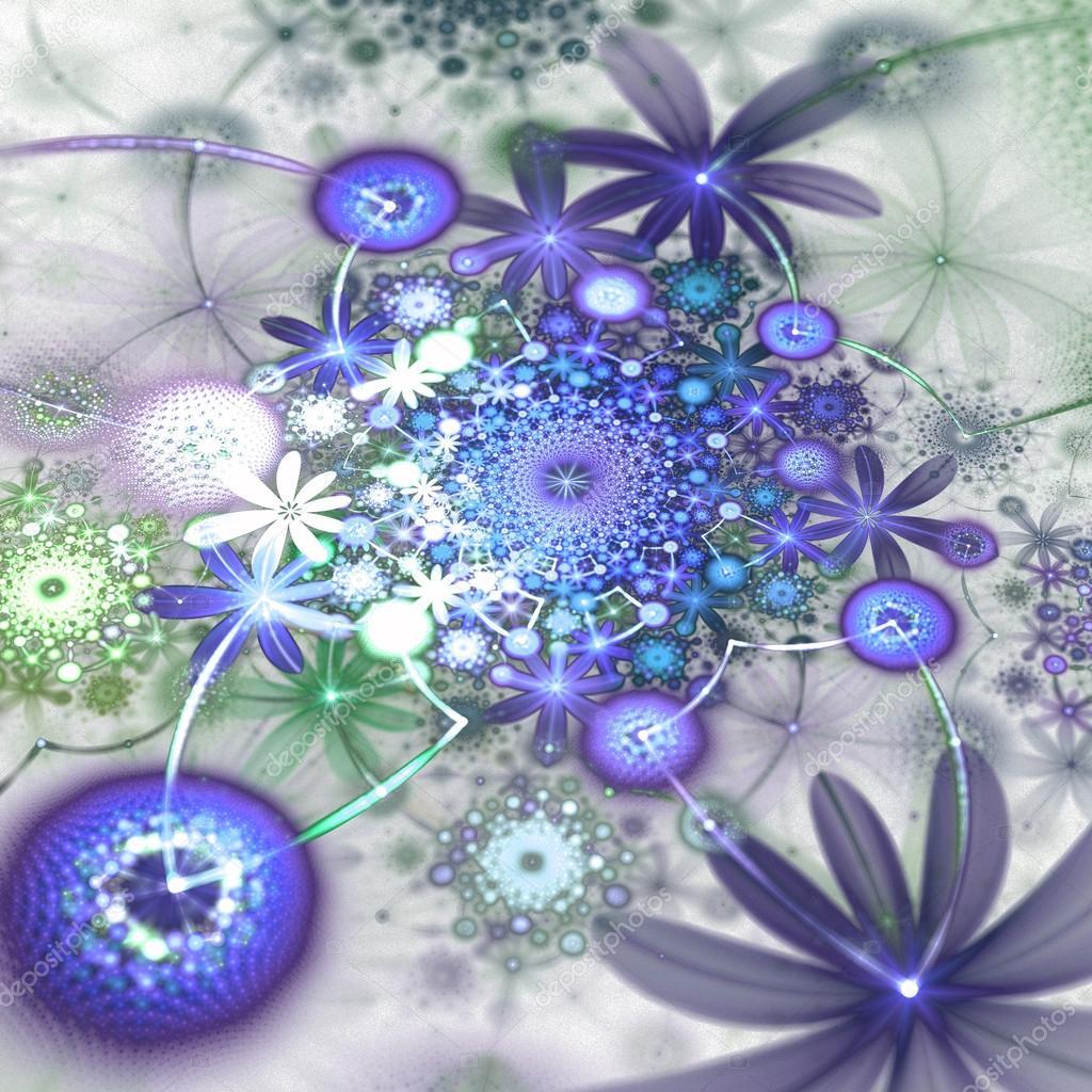 giardino fiorito di frattalo astratto, opera d'arte digitale per ... - Giardino Fiorito Disegno