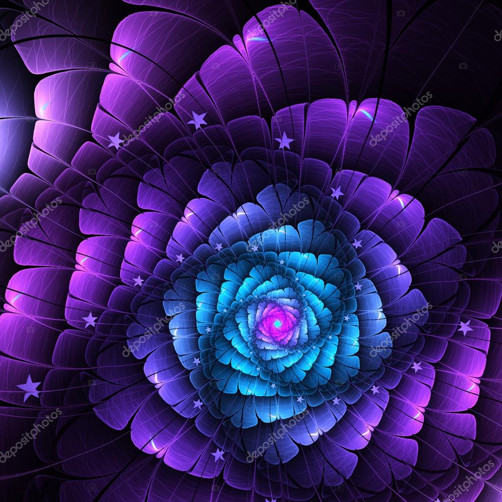 Dark blue and purple fractal flower digital artwork for creative dark blue and purple fractal flower digital artwork for creative graphic design photo by keilaneokow izmirmasajfo