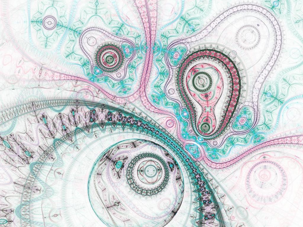 Lehke Barevne Fraktalni Hodinky Digitalni Kresba Pro Kreativni