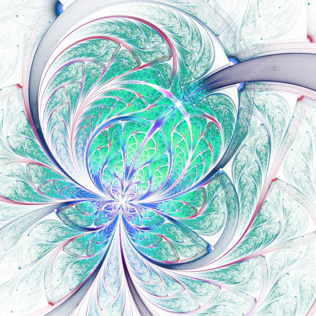 Lehke Fraktalni Kvetina Nebo Motyl Digitalni Kresba Pro Kreativni