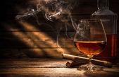 A szivar dohányzás whiskey