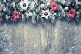 Fotografie Vánoční pozadí s dekoracemi