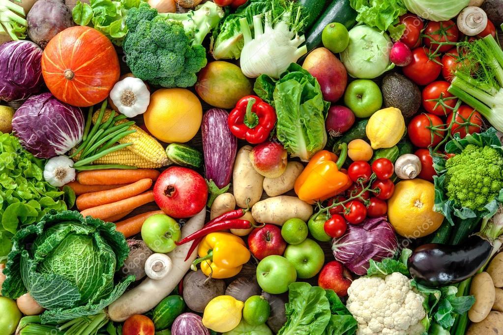 b3bf14d337fc frutas y verduras frescas — Fotos de Stock © alexraths #119864862