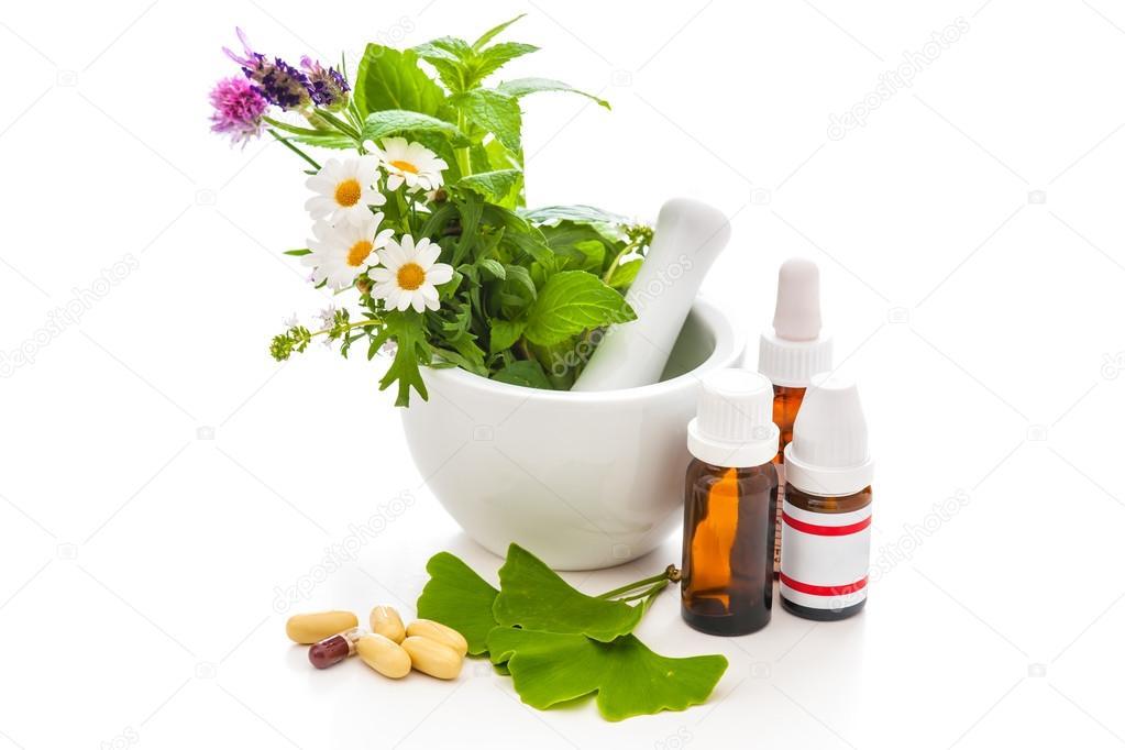 Healing herbs and amortar.