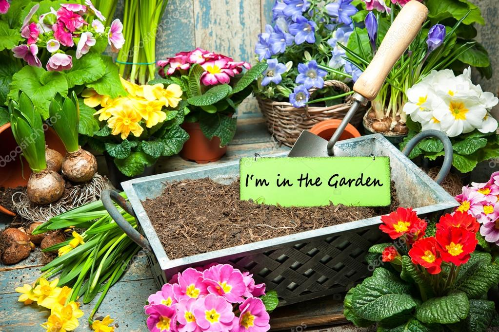 i am in the garden sign