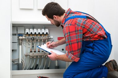 Technician at the work