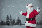 Fotografie Santa claus ukázal