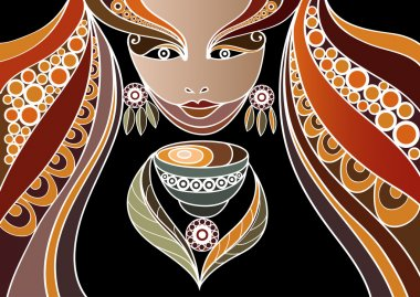 Woman with a cup of tea or coffee 1