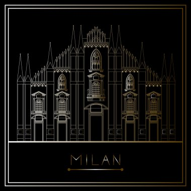 Milan, vector (illustration)