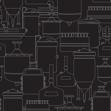 Seamless background with beer brewing process
