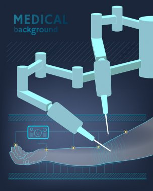 Medical background. The future of surgery. Vector
