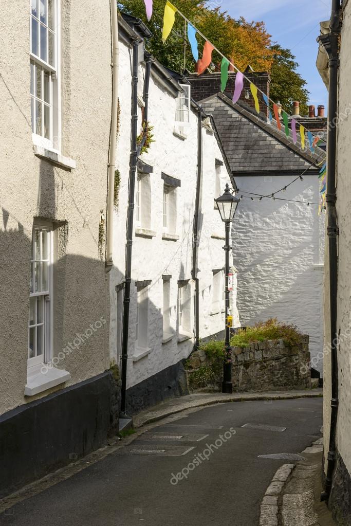 Biegung Der Strasse Am Fowey Cornwall Stockfoto C Halpand 60608419