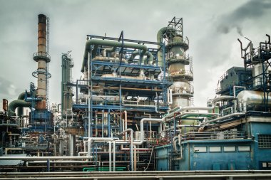 gas, oil and chemical industry plant
