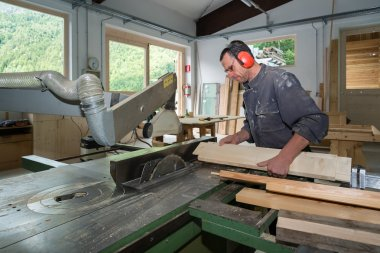 worker in joinery