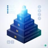 Fotografie Isometric 3d pyramid chart template