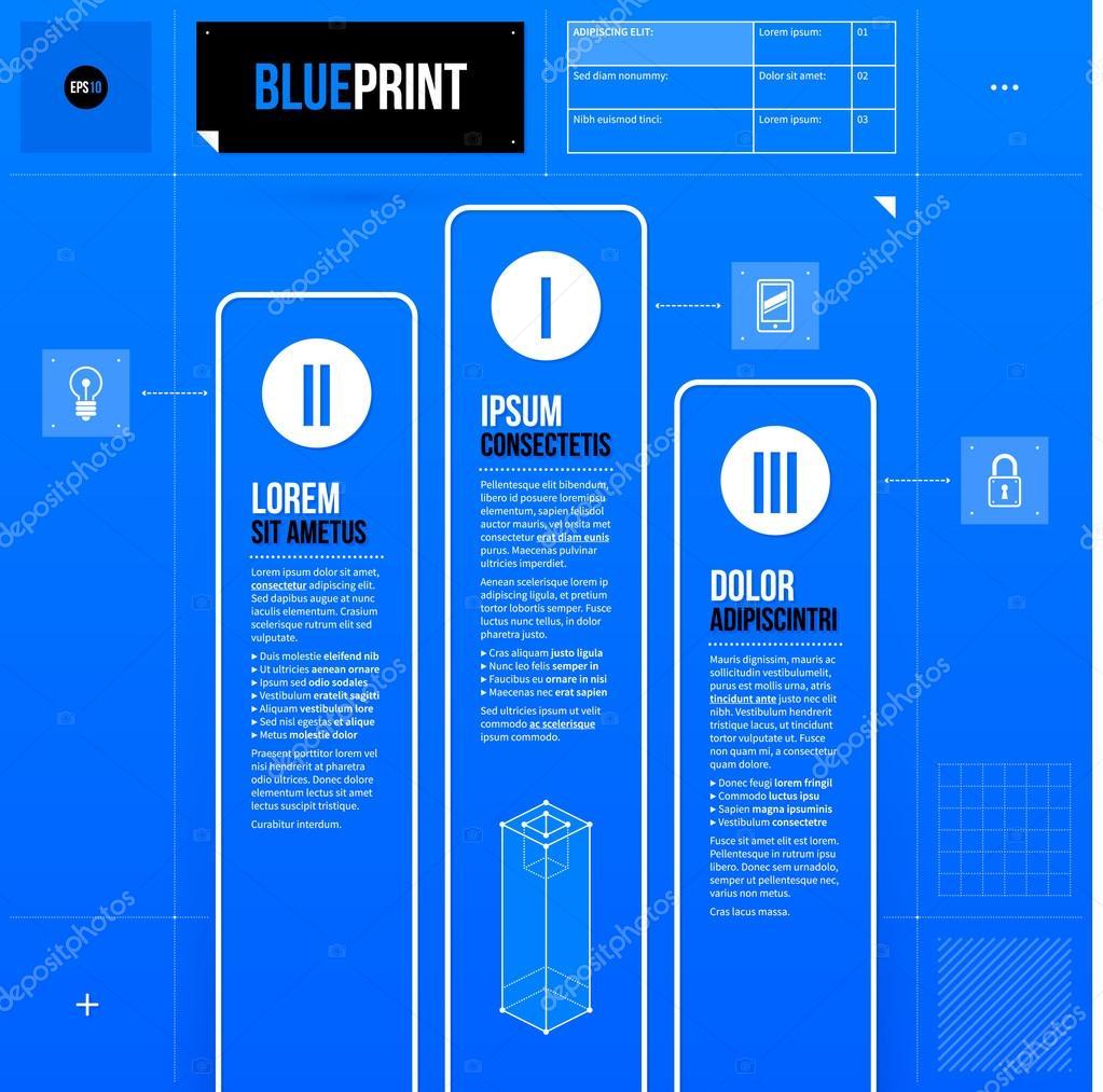 Podest-Vorlage im blueprint — Stockvektor #67346967
