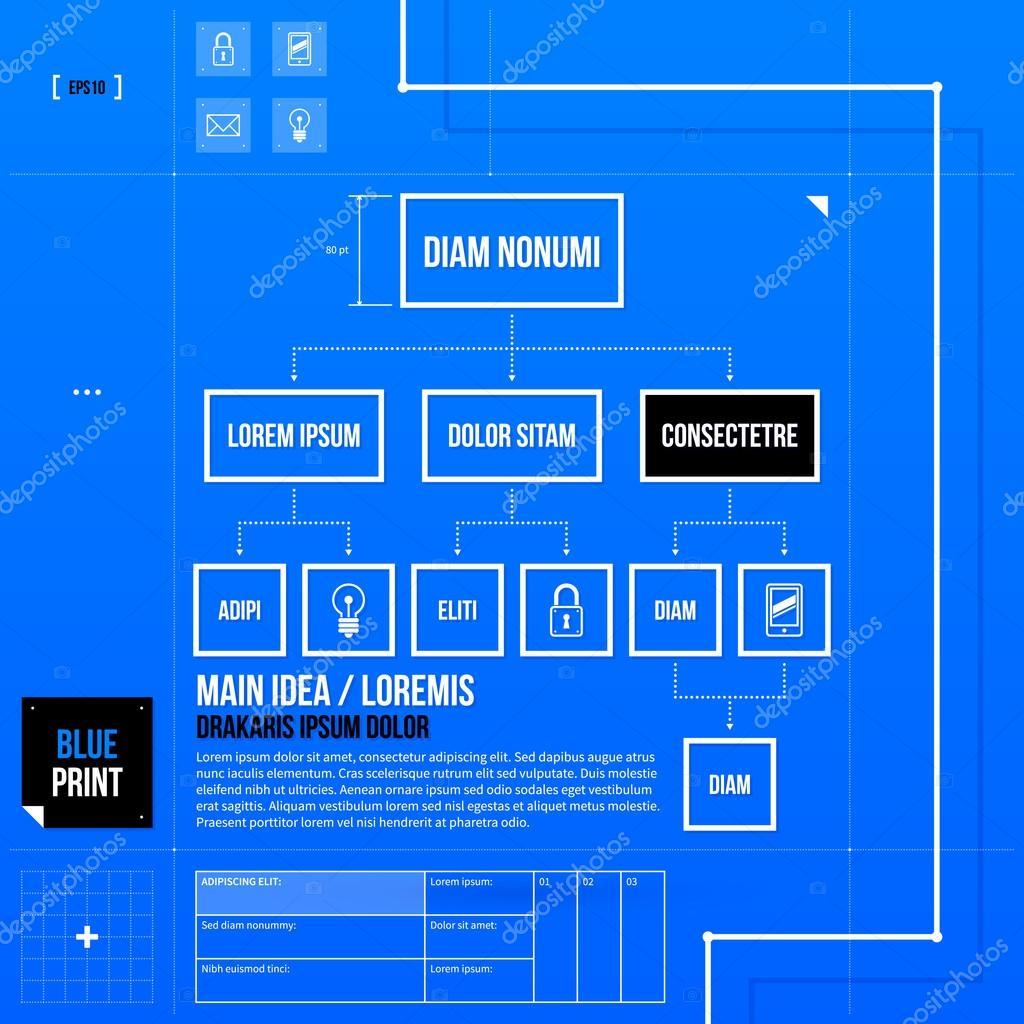 Vorlage im Stil der Blaupause — Stockvektor © miaou-miaou #67347383