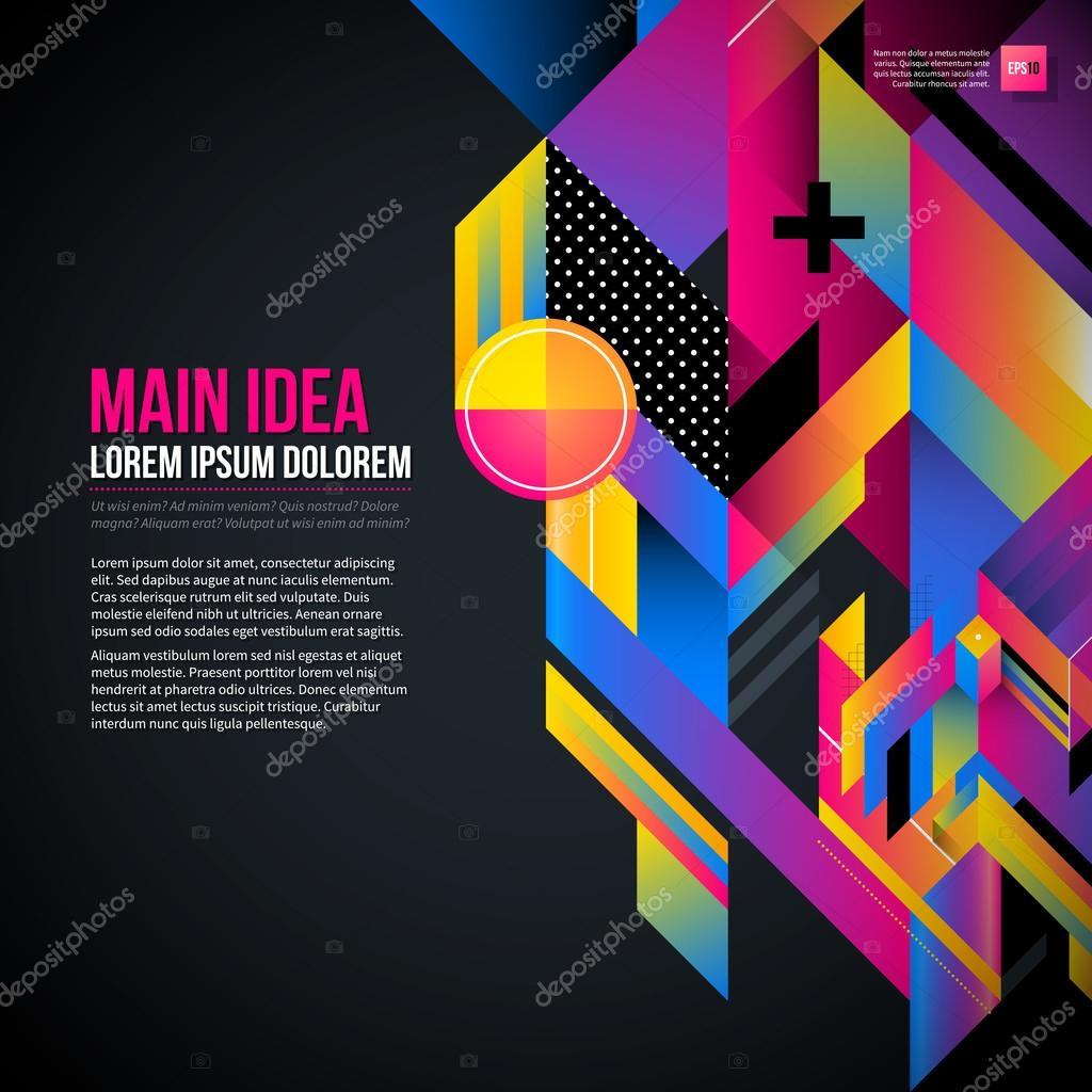 Dark background with geometric element