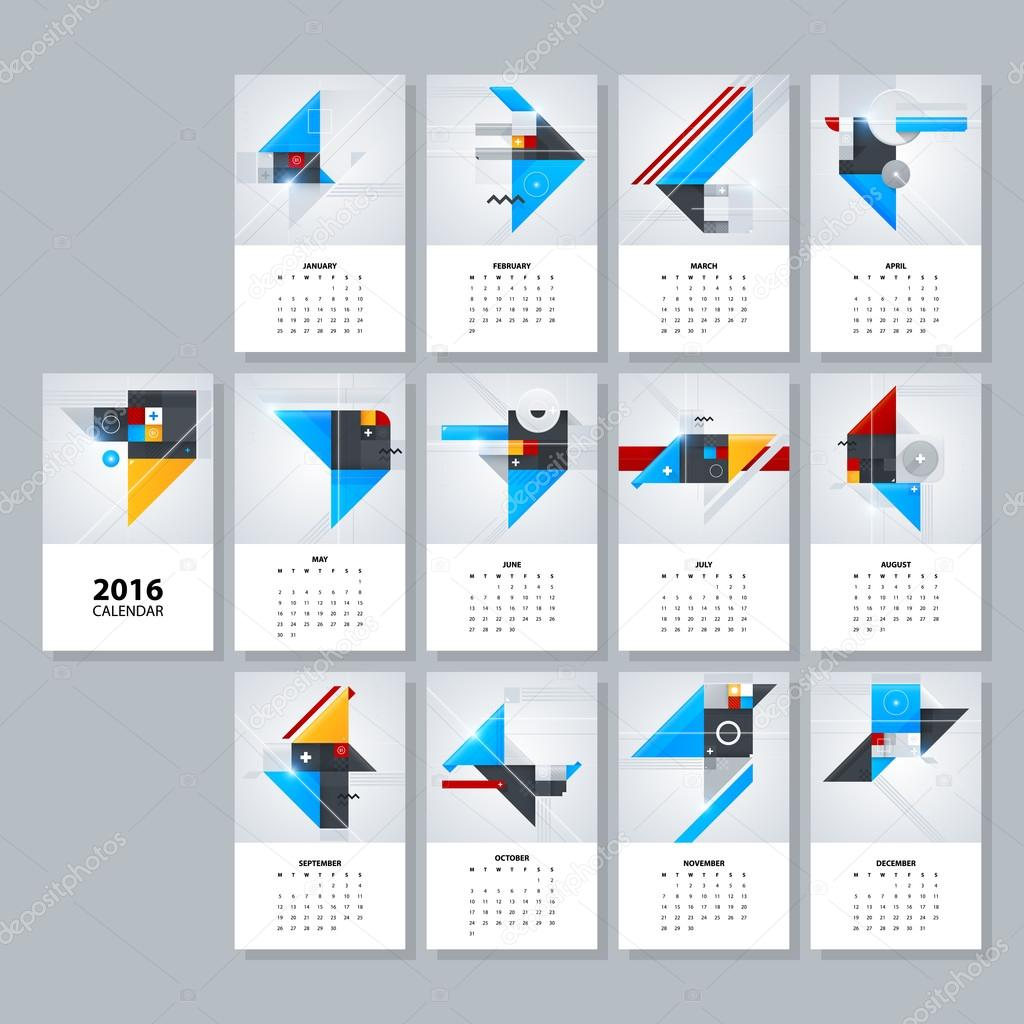 2016 calendar layouts stock vector miaou miaou 98260418