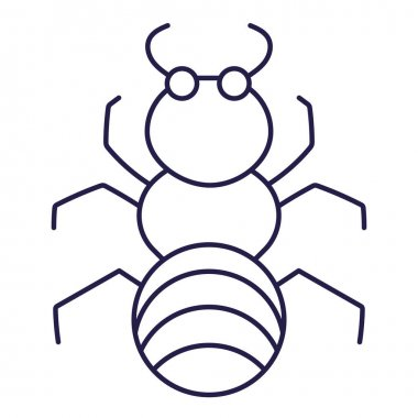 Insect ant animal in cartoon line icon style vector illustration icon