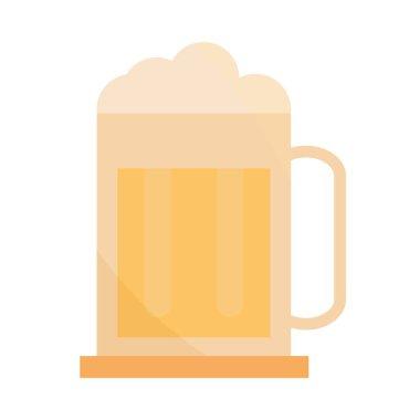 Beer mug drink beverage in cartoon flat icon vector illustration icon