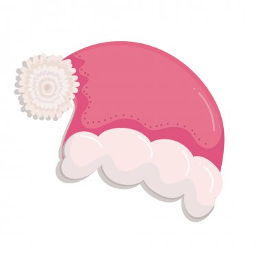Merry christmas, santa hat decoration icon design vector illustration icon