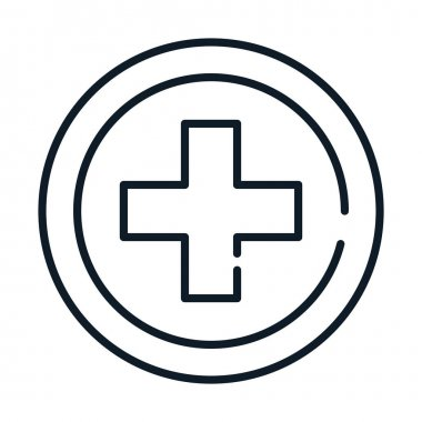 Health medical cross service vector illustration line icon icon