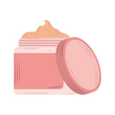 Skin care cosmetic cream product icon vector illustration icon