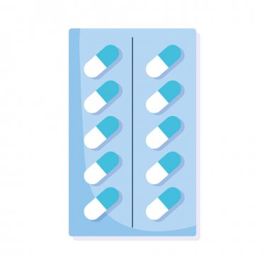 Capsules packaging medicaments isolated icon icon