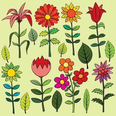 """Картина, постер, плакат, фотообои """"various summer flowers."""", артикул 61068353"""