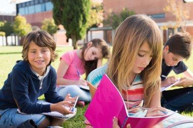 kids in school campus
