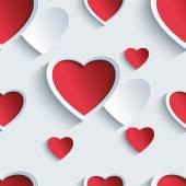 Fotografie Valentinstag nahtloses Muster mit 3D-Herzen
