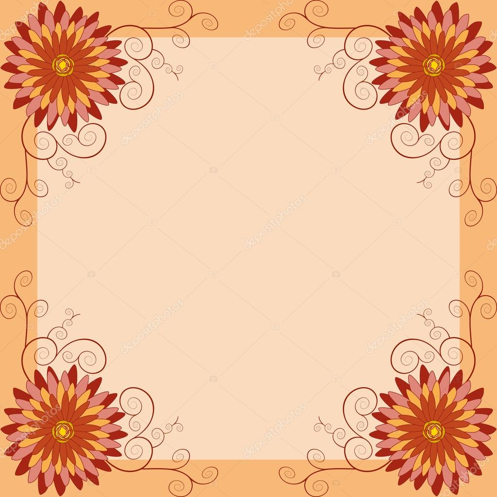 Floral vintage background invitation or greeting card vetor de invitation greeting card in vintage or retro style stylish floral golden wallpaper beautiful square frame with place for text stopboris Image collections