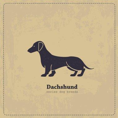 Vintage Dachshund poster