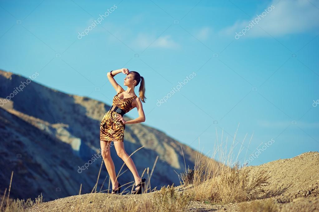 Romantic beautiful woman