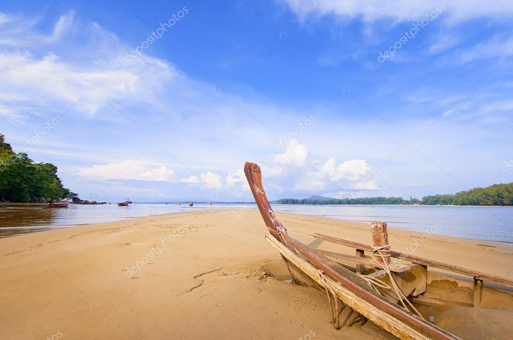 Fishing boat on a beach