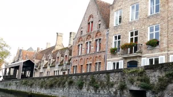 Scenic city view of Bruges, Belgium, canal Spiegelrei 7