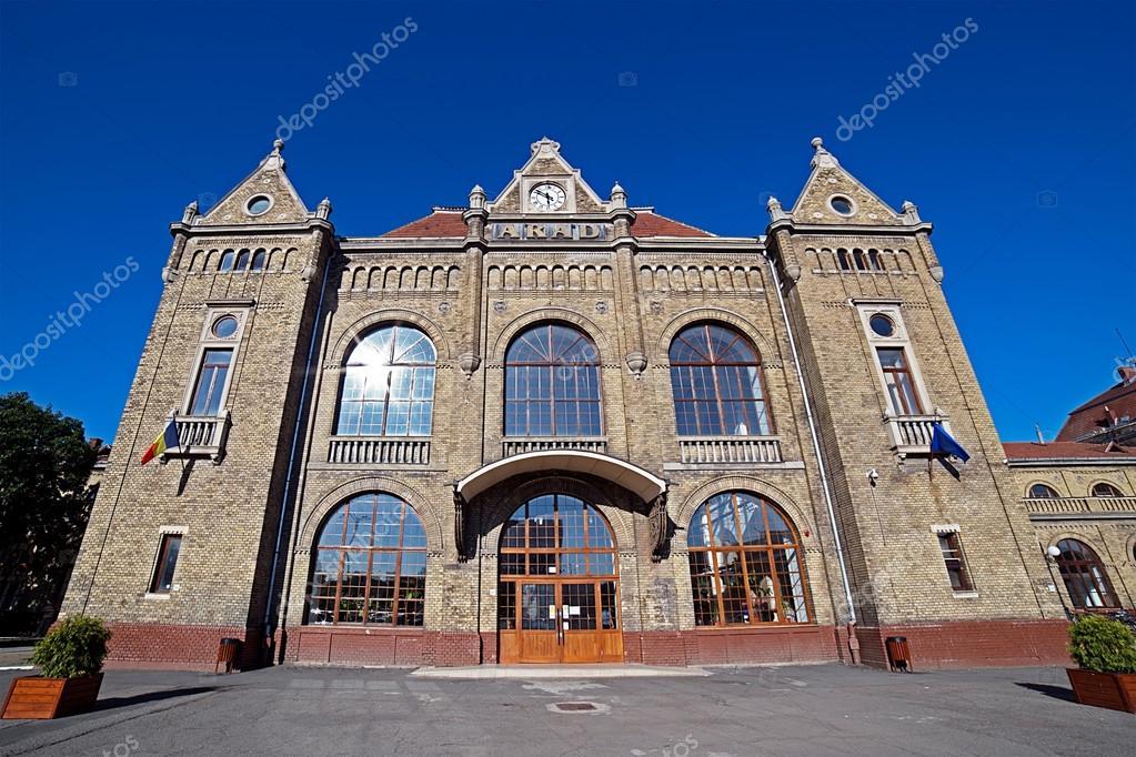 Arad Rumänien alten bahnhof in arad rumänien stockfoto florin1961 121695376