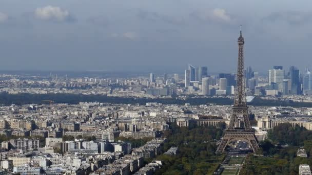 Panoramic footage in 4k with Paris from Montparnasse tower 1