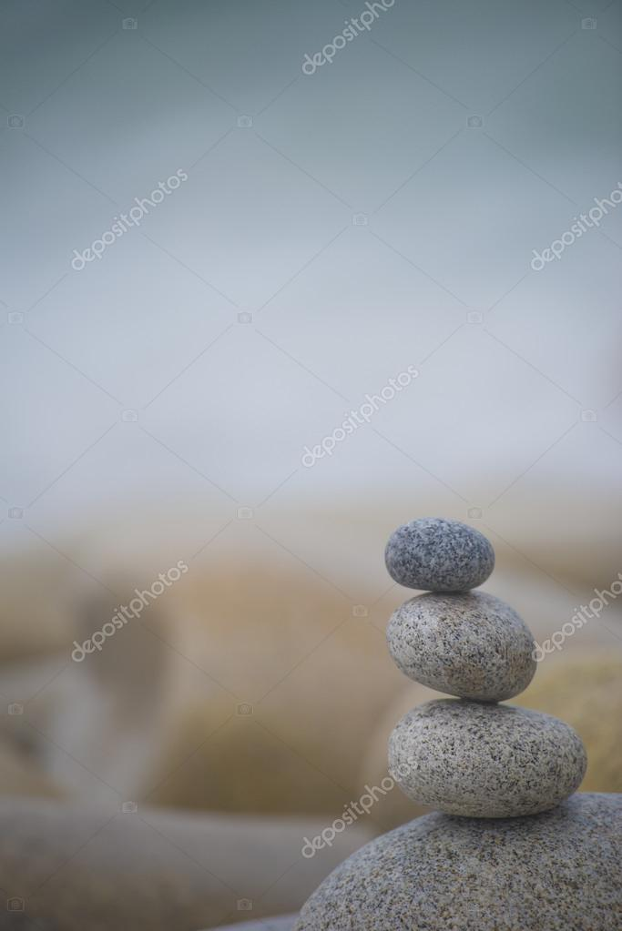 Harmony Background, Three Pebbles Stack.