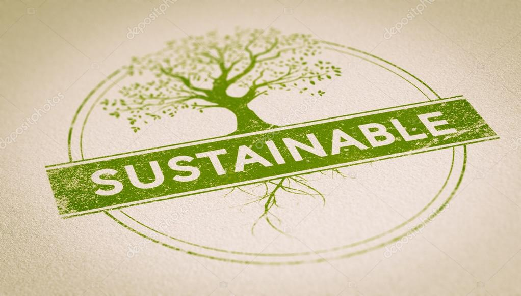 Sustainable Stamp over PAper