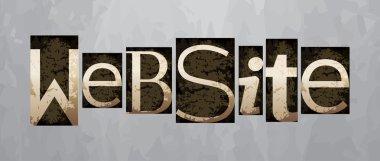 Vector website concept, vintage letterpress type