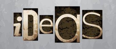 Vector ideas concept, vintage letterpress type