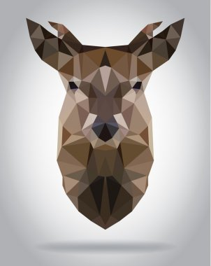 Deer head vector isolated geometric modern illustration